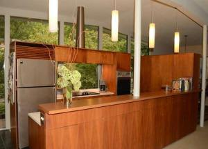 The open kitchen in the Rothstein house.