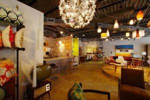 Inside the TRIG Modern showroom.