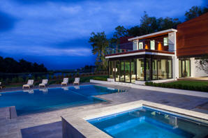 The Lebda Guest House in Wilmington, designed by Michael Ross Kersting Architecture, won First Place in the People's Choice awards.