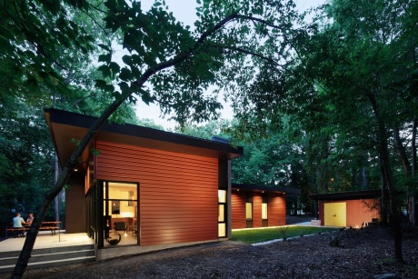 The Aiyyer residence in Carrboro won first place for architect Jason Hart of CUBE design + research in Chapel Hill in the N.C. Modernist Houses' 2015 Matsumoto Prize competition. Mark Herboth Photography LLC Mark Herboth Photography LLC Read more here: http://www.newsobserver.com/living/home-garden/article29540578.html#storylink=cpy