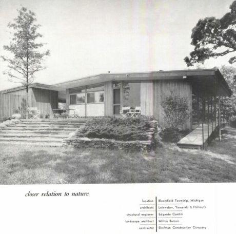 As seen in Progressive Architecture magazine, 1949