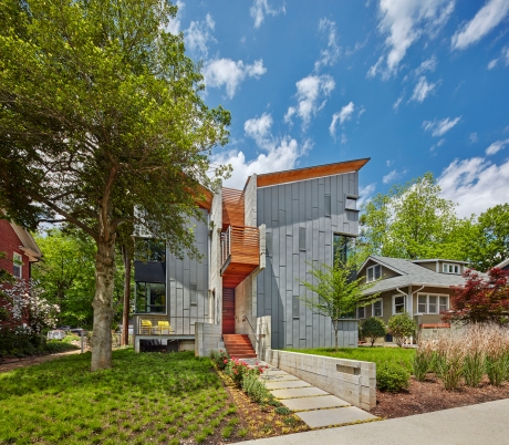 First Prize, Jury Awards, and Second Place in the People's Choice category: 123 Hillcrest by Alphin Design Build. Photo by James West / JWest Productions LLC